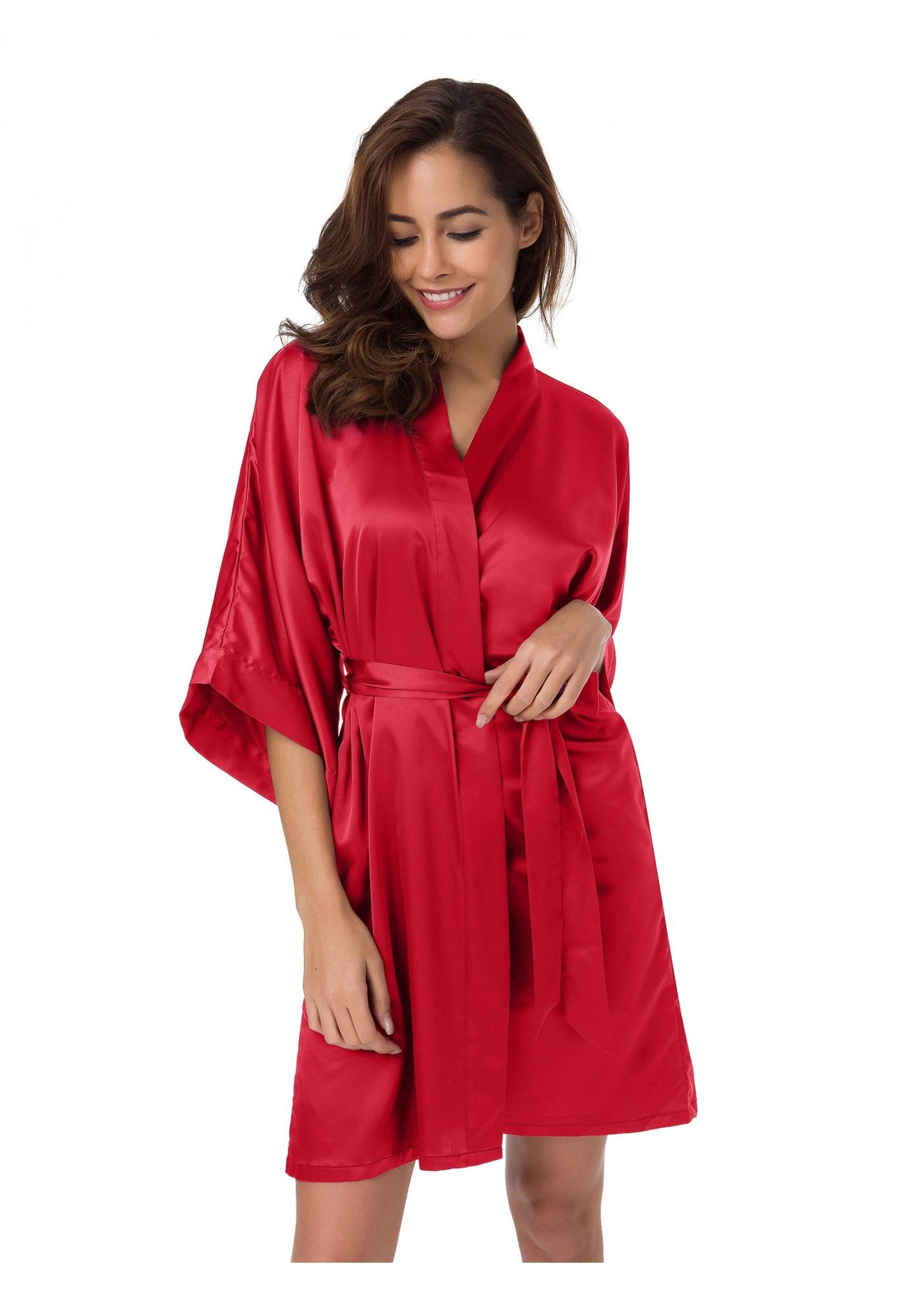 Women S Silk Satin Robe